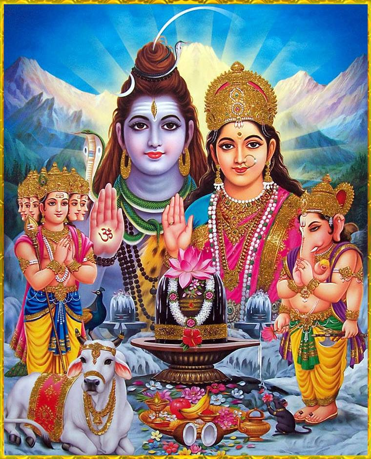 parvati-mata-with-god-shiva-ji-and-sons-ganesha-and-kartikeya