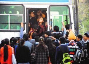 girls-face-inconvenience-while-alighting-from-a-jam-packed-bus-at-the-bus-stand-in-sector-5-panchkula