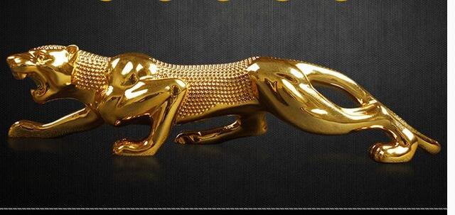 Leopard gold cheetah statue