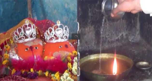 इस मंदिर में माता की ज्योत जलती है पानी से ( flame burning with water )