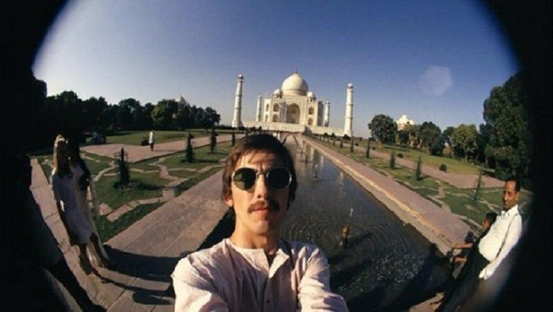 selfie with taj