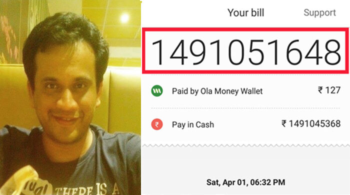 sushil narsian charged 149 crore by ola