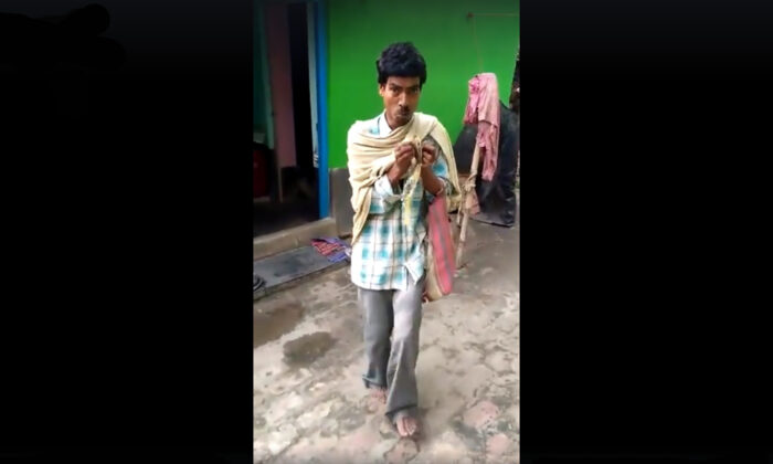 a man singing indian folk song video on social media goes viral.