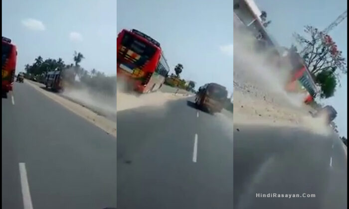coimbatore two passenger Buses racing video goes viral on social media