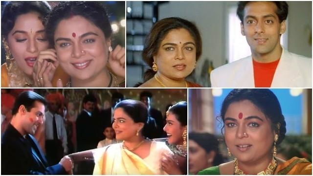 रीमा लागू: इन यादगार फ़िल्मों में निभा चुकी है, सलमान संग 'माँ' का रोल ( in these bollywood films reema lagoo played role of mother with salman khan )