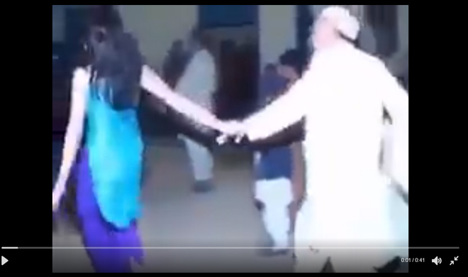 twitter video muslim old man dances with the young dancer