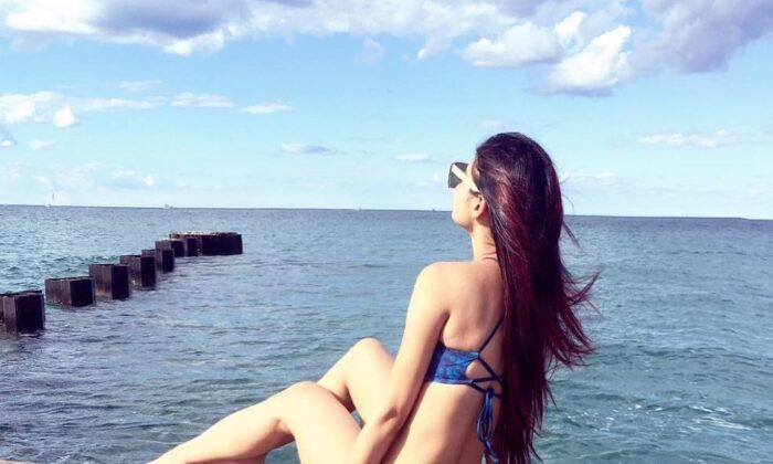 naagin mouni roy enjoy vacation chicago