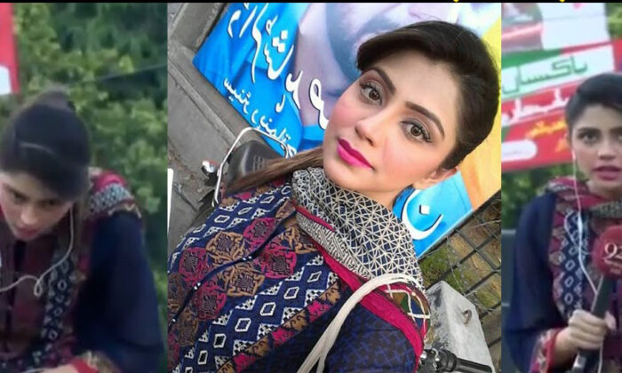 LIVE रिपोर्टिंग करते, पाकिस्तानी एंकर चक्कर खाकर क्रेन से नीचे गिरी : वीडियो देखें ( pakistani female news anchor fell down from crane during pakistan tehreek e insaf rally live reporting )