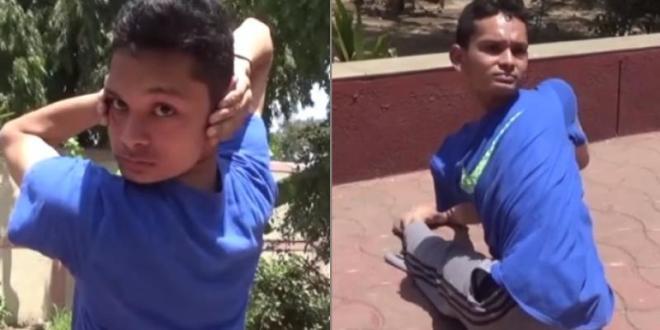 वीडियो: उल्लू की तरह घुमाता है ये लड़का अपनी गर्दन, पुरे शरीर को तोड़-मोड़ लेता है ( surat rubber man yesh can twist his body )