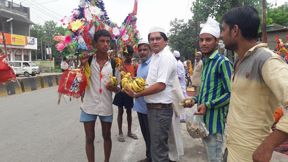 Kawad Yatra camp by Muslim community up
