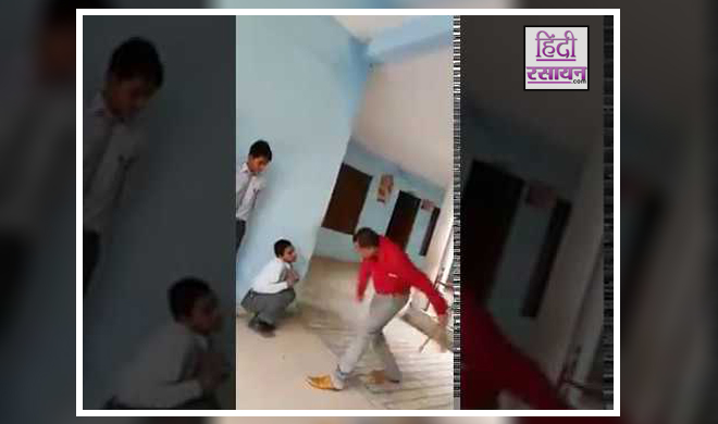 Viral Video school Principal Turns Brute Inhuman Behaviour With Students