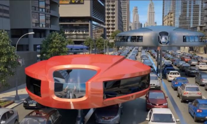 चीन ने बनाई ऐसी बस, जो ट्रैफिक में भी बिना फसे चलती है ( gyroscopic transportation of the future facebook viral video )