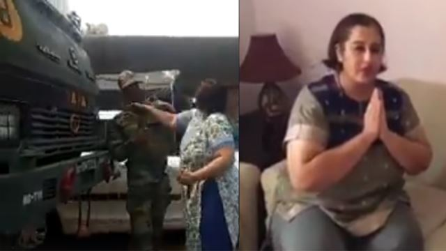 वीडियो : महिला ने फौजी को बीच सड़क मारा थप्पड़ की बेइज्जती , अब मांगना चाहती है माफ़ी ( the woman insults the soldier slap in the middle of the road now wants to apologize )