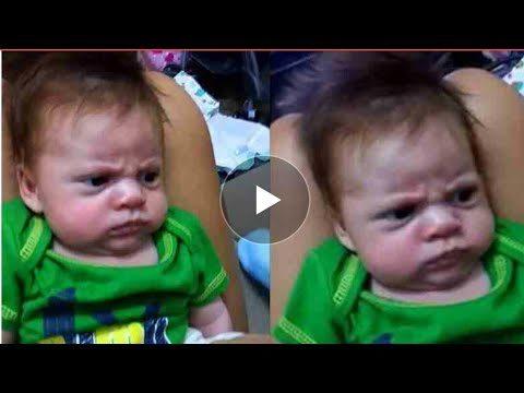 दुनिया का सबसे खडूस बच्चा,मजाल किसी की जो इसे हंसा सके ( funny face kid viral video )