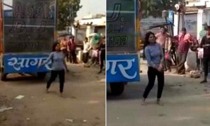 Viral Video gurugram After Breakup Drunk girl dances on dj at her Boyfriend's Home.