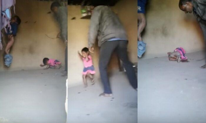 बेरहम बाप की दरिंदगी पकड़ी गई करता था बच्चों को थर्ड डिग्री  टॉर्चर, वीडियो हुआ वायरल ( viral video father beating his innocent children at rajsamand rajasthan )