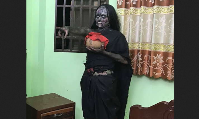 वीडियो : हॉरर फिल्म की शूटिंग करते-करते सचमुच आ गई आत्मा ( viral video cambodian actress donning the role of ghost gets possessed by real ghost )