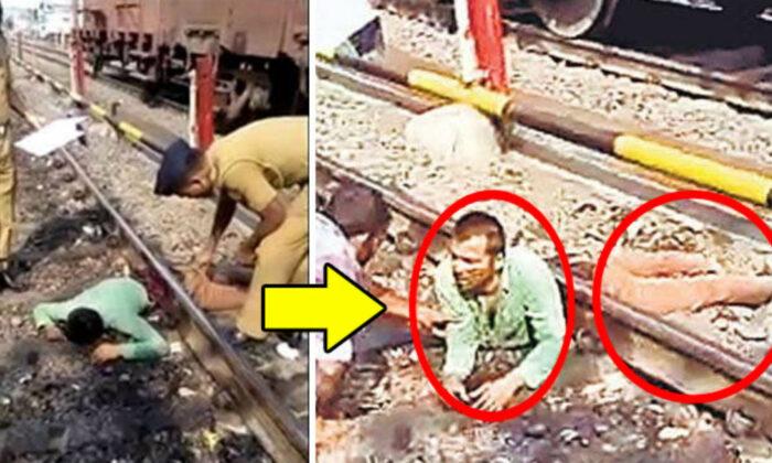 """वीडियो: दो हिस्से में कटा युवक बोला, """"मैं मालीवाडा का संजूहूँ"""" ( man speaks after body divided into two parts from train accident nandurbar )"""