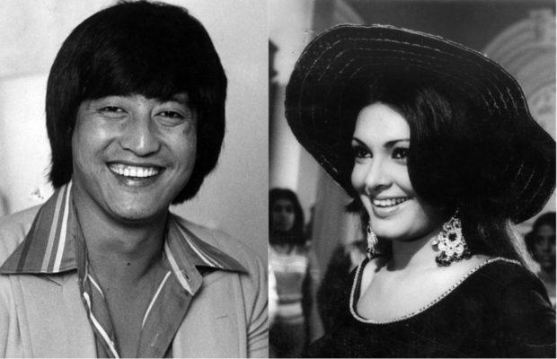 Danny Denzongpa and Parveen Babi