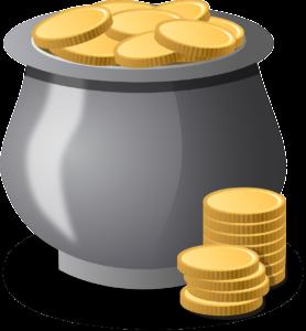Gold Coin Pot