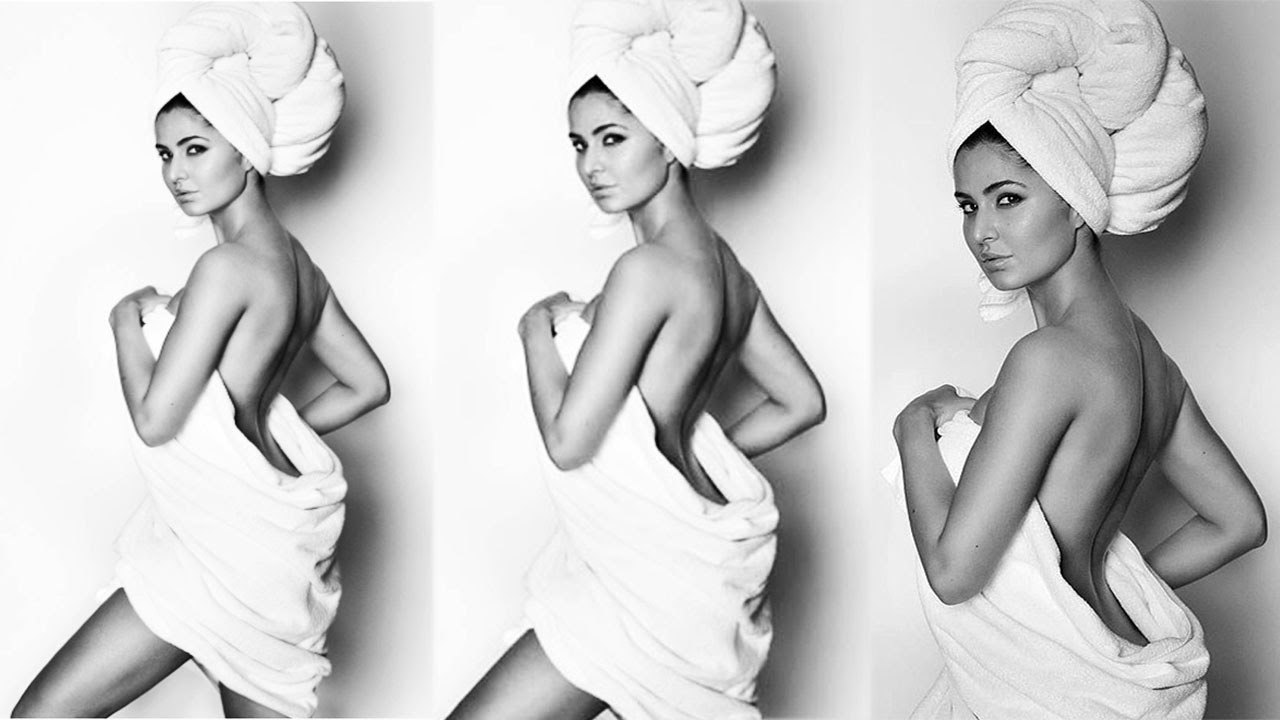 Katrina Kaif Hot Towel Photoshoot