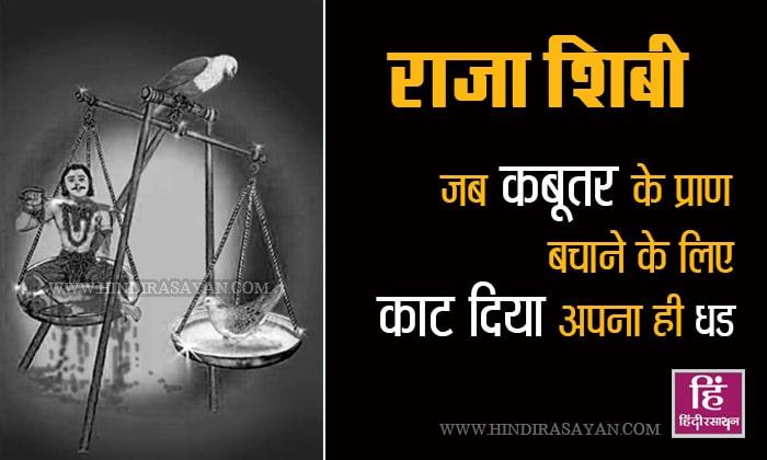 Raja Shibi and Two Bird Story in Hindi राजा शिबी और कबूतर बाज की कहानी
